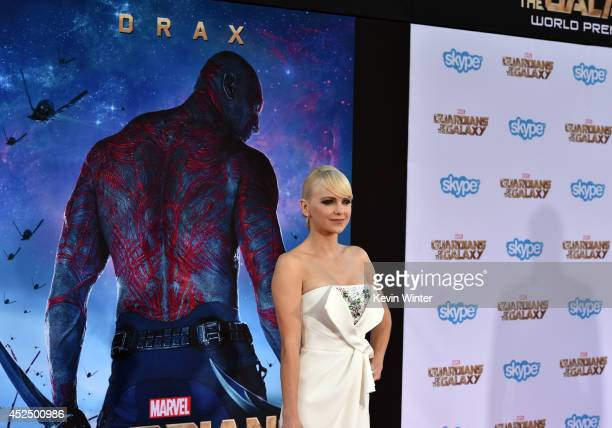 Actress Anna Faris attends the premiere of Marvel's 'Guardians Of The Galaxy' at the Dolby Theatre on July 21 2014 in Hollywood California