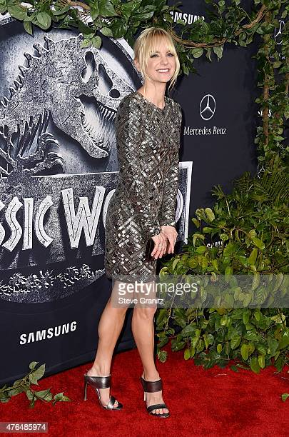 Actress Anna Faris attends the Universal Pictures' 'Jurassic World' premiere at the Dolby Theatre on June 9 2015 in Hollywood California