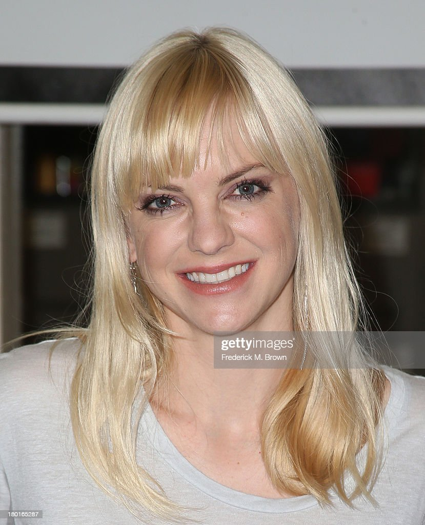 Actress Anna Faris volunteers in support of Hunger Action Month, 'Cloudy with a Chance of Meatballs 2' at the Los Angeles Regional Food Bank on September 9, 2013 in Los Angeles, California.