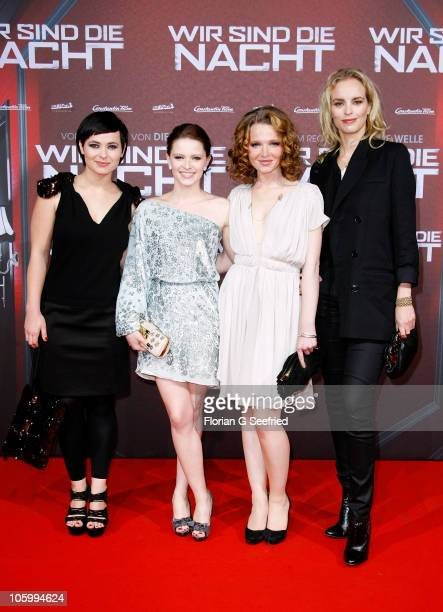 Actress Anna Fischer actress Jennifer Ulrich actress Karoline Herfurth and actress Nina Hoss attend the 'Wir sind die Nacht' Premiere at Kino in der...