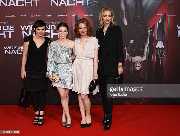 Actress Anna Fischer actress Jennifer Ulrich actress Karoline Herfurth and actress Nina Hoss attend the 'Wir sind die Nacht' Premiere at Kino in der...