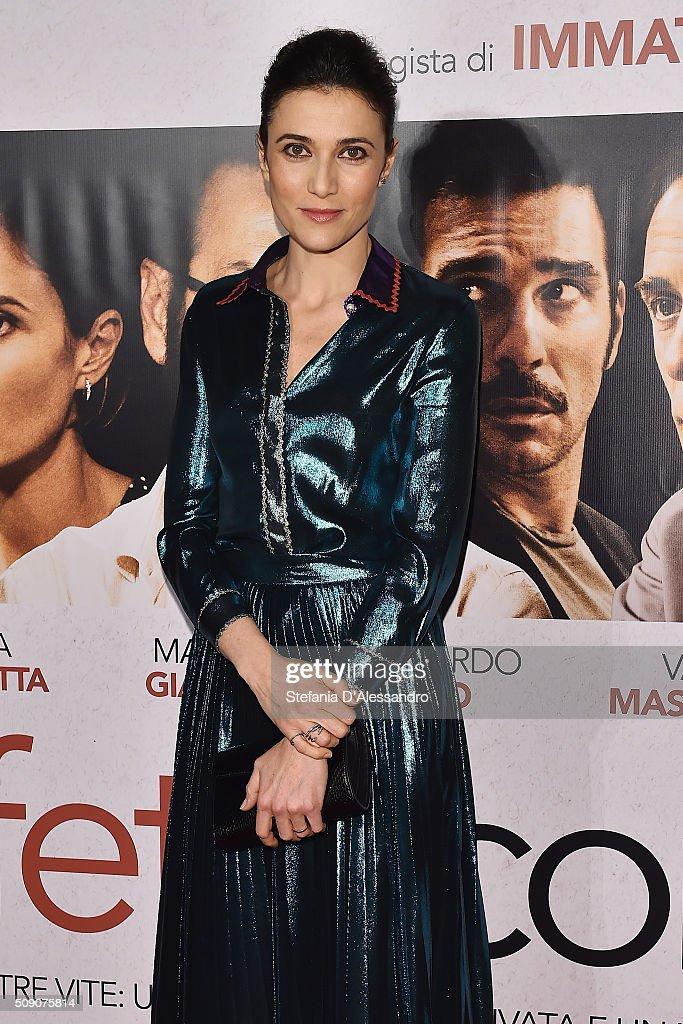 Actress Anna Foglietta attends 'Perfetti Sconosciuti' Premiere held at Odeon Cinema on February 8, 2016 in Milan, Italy.
