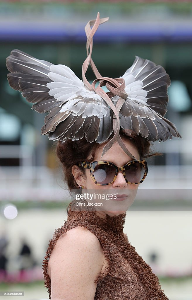 Actress Anna Friel on the fourth day of Royal Ascot at Ascot Racecourse on June 17, 2016 in Ascot, England.