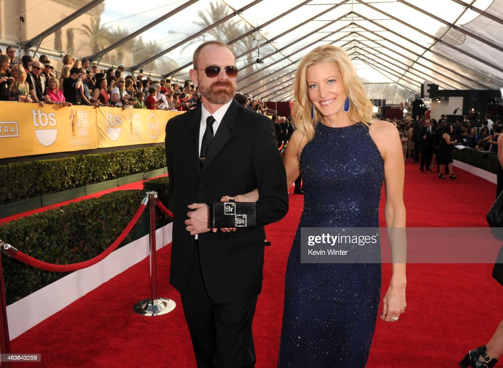 Actress Anna Gunn and guest attend 20th Annual Screen Actors Guild Awards at The Shrine Auditorium on January 18 2014 in Los Angeles California
