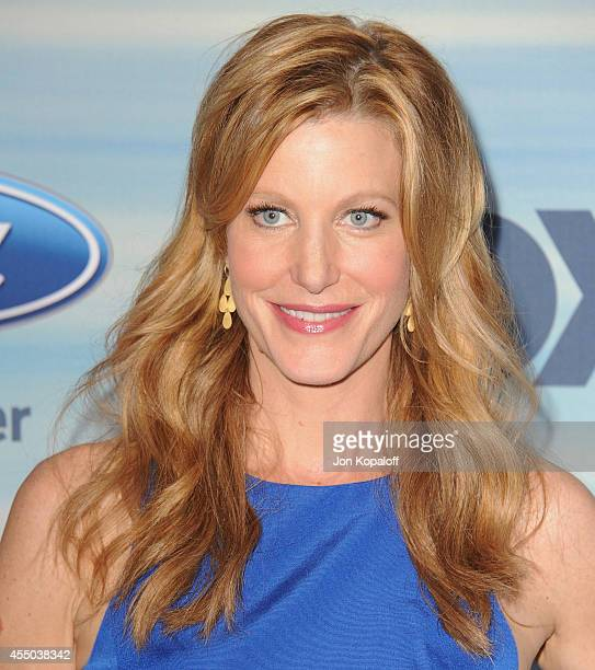 Actress Anna Gunn arrives at the 2014 FOX Fall EcoCasino Party at The Bungalow on September 8 2014 in Santa Monica California