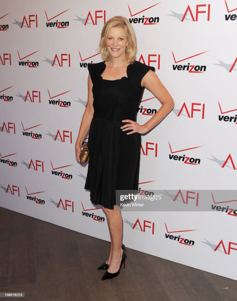 Actress <a gi-track='captionPersonalityLinkClicked' href=/galleries/search?phrase=Anna+Gunn&family=editorial&specificpeople=589359 ng-click='$event.stopPropagation()'>Anna Gunn</a> attends the 13th Annual AFI Awards at Four Seasons Los Angeles at Beverly Hills on January 11, 2013 in Beverly Hills, California.