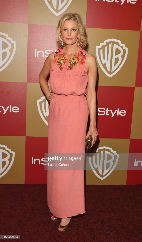Actress Anna Gunn attends the 2013 InStyle and Warner Bros. 70th Annual Golden Globe Awards Post-Party held at the Oasis Courtyard in The Beverly Hilton Hotel on January 13, 2013 in Beverly Hills, California.