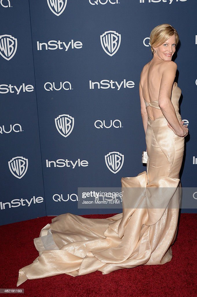 Actress Anna Gunn attends the 2014 InStyle and Warner Bros 71st Annual Golden Globe Awards PostParty on January 12 2014 in Beverly Hills California