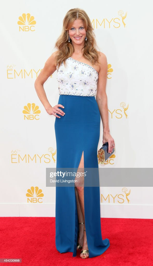 Actress Anna Gunn attends the 66th Annual Primetime Emmy Awards at the Nokia Theatre LA Live on August 25 2014 in Los Angeles California