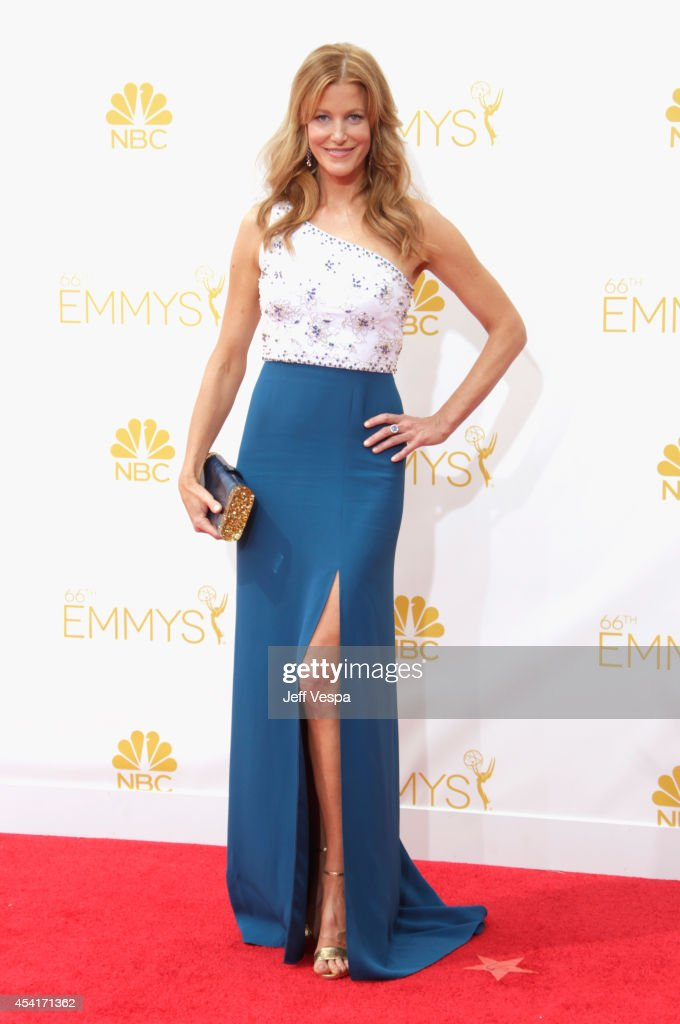 Actress Anna Gunn attends the 66th Annual Primetime Emmy Awards held at Nokia Theatre LA Live on August 25 2014 in Los Angeles California