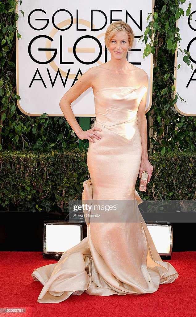 Actress Anna Gunn attends the 71st Annual Golden Globe Awards held at The Beverly Hilton Hotel on January 12 2014 in Beverly Hills California