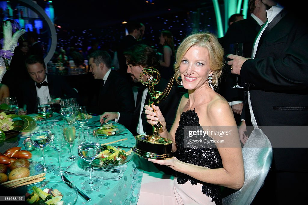 Actress <a gi-track='captionPersonalityLinkClicked' href=/galleries/search?phrase=Anna+Gunn&family=editorial&specificpeople=589359 ng-click='$event.stopPropagation()'>Anna Gunn</a> attends the Governors Ball during the 65th Annual Primetime Emmy Awards at Nokia Theatre L.A. Live on September 22, 2013 in Los Angeles, California.