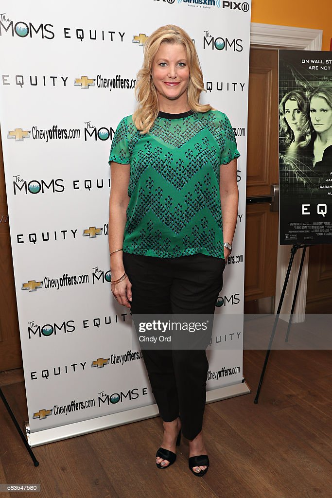 Actress Anna Gunn attends The Moms Mamarazzi screening of 'Equity' at Crosby Street Theater on July 26, 2016 in New York City.
