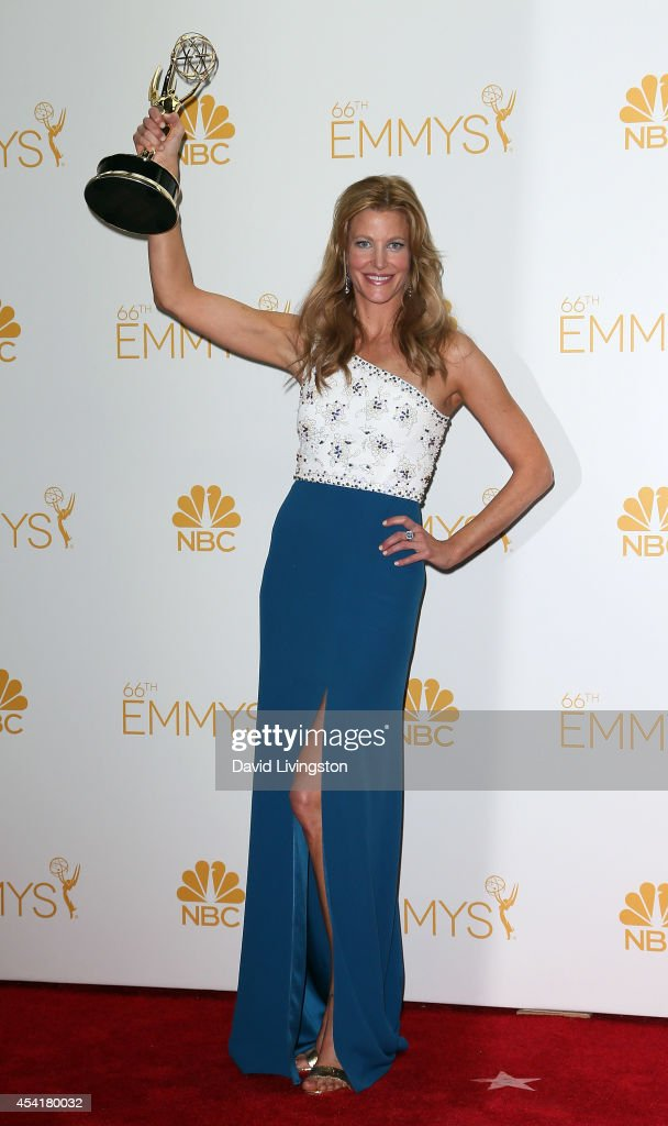 Actress <a gi-track='captionPersonalityLinkClicked' href=/galleries/search?phrase=Anna+Gunn&family=editorial&specificpeople=589359 ng-click='$event.stopPropagation()'>Anna Gunn</a> poses in the press room at the 66th Annual Primetime Emmy Awards at the Nokia Theatre L.A. Live on August 25, 2014 in Los Angeles, California.