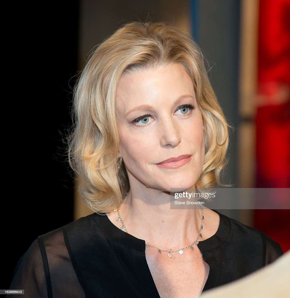 Actress Anna Gunn poses prior to participating in a tribute during the ABQ Studios And Youth Development Inc. Honor The Cast Of 'Breaking Bad' on at Albuquerque Studios on March 16, 2013 in Albuquerque, New Mexico.
