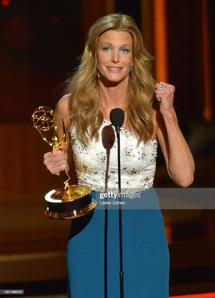 Actress Anna Gunn speaks onstage at the 66th Annual Primetime Emmy Awards held at Nokia Theatre LA Live on August 25 2014 in Los Angeles California