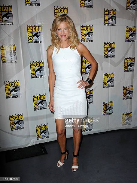 Actress Anna Gunn speaks onstage at the 'Breaking Bad' panel during ComicCon International 2013 at San Diego Convention Center on July 21 2013 in San...