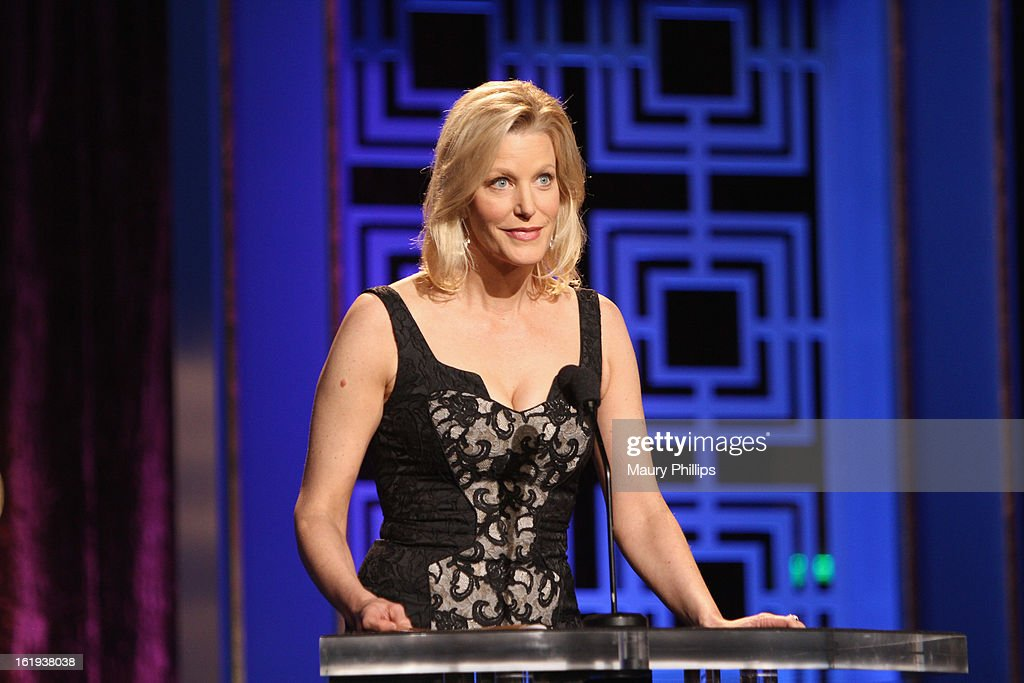 Actress Anna Gunn speaks onstage during the 2013 WGAw Writers Guild Awards at JW Marriott Los Angeles at L.A. LIVE on February 17, 2013 in Los Angeles, California.