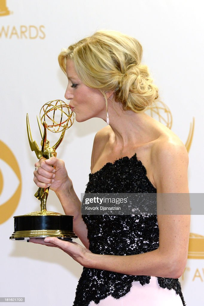 Actress <a gi-track='captionPersonalityLinkClicked' href=/galleries/search?phrase=Anna+Gunn&family=editorial&specificpeople=589359 ng-click='$event.stopPropagation()'>Anna Gunn</a>, winner of Outstanding Supporting Actress in a Drama Series award for 'Breaking Bad,' poses in the press room during the 65th Annual Primetime Emmy Awards held at Nokia Theatre L.A. Live on September 22, 2013 in Los Angeles, California.