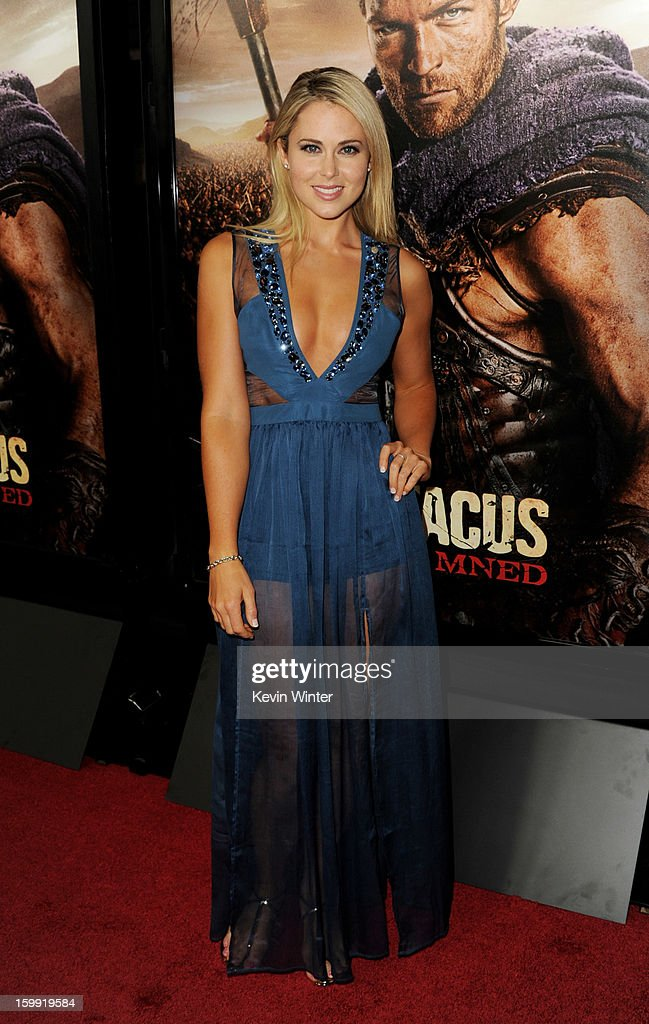 Actress Anna Hutchison arrives at the premiere of Starz's 'Spartacus: War Of The Damned' at the Regal Cinemas L.A. Live on January 22, 2013 in Los Angeles, California.