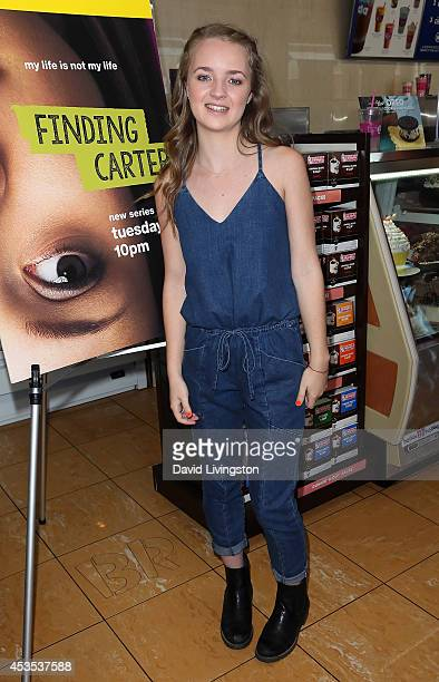 Actress Anna JacobyHeron attends the MTV's 'Finding Carter' fan event at BaskinRobbins on August 12 2014 in Burbank California