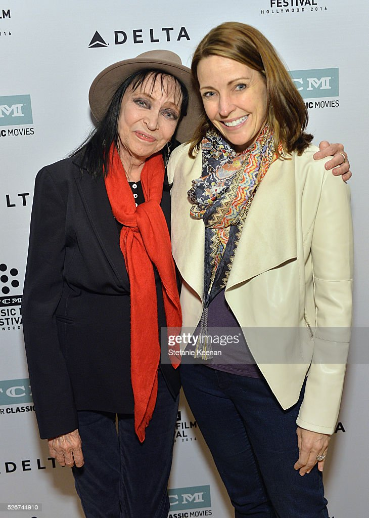 Actress Anna Karina (L) and General Manager of TCM Jennifer Dorian attend 'Band of Outsiders' screening during day 3 of the TCM Classic Film Festival 2016 on April 30, 2016 in Los Angeles, California. 25826_005