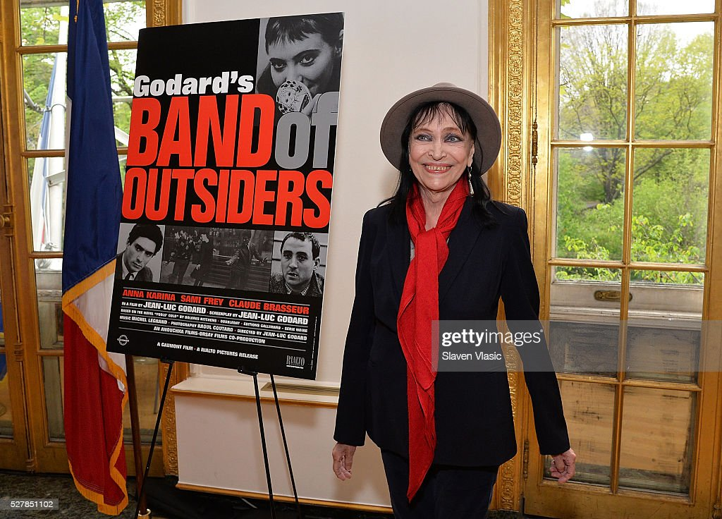 Actress Anna Karina holds a press conference about her career and colaboration with writer/director Jean-Luc Godard at French Cultural Services on May 3, 2016 in New York City.