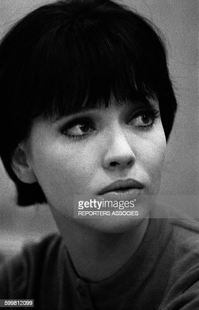 Actress Anna Karina in Paris France in 1960