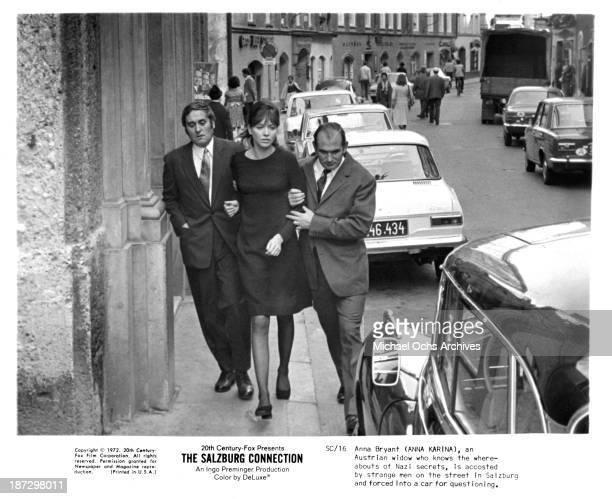 Actress Anna Karina on set of the 20th CenturyFox movie'The Salzburg Connection' in 1972