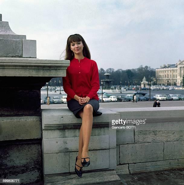 Actress Anna Karina On The Place De La Concorde In Paris France Circa 1960