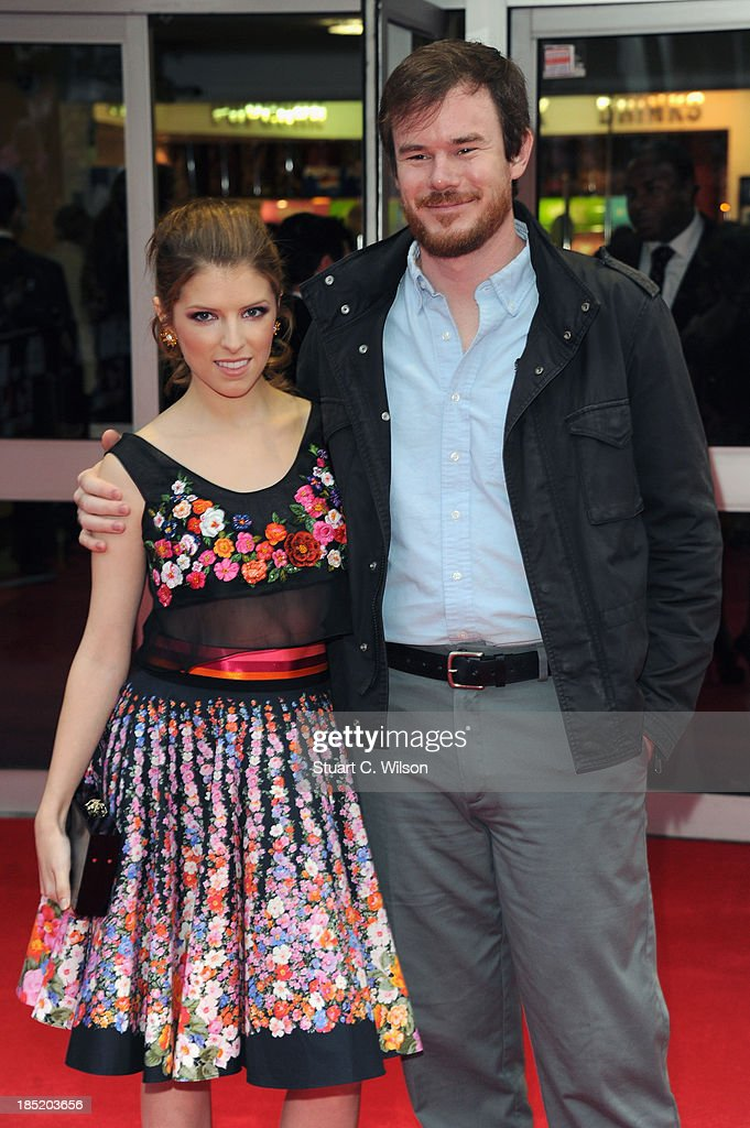 Actress Anna Kendrick and director Joe Swanberg attend a screening of 'Drinking Buddies' during the 57th BFI London Film Festival at Odeon West End on October 18, 2013 in London, England.