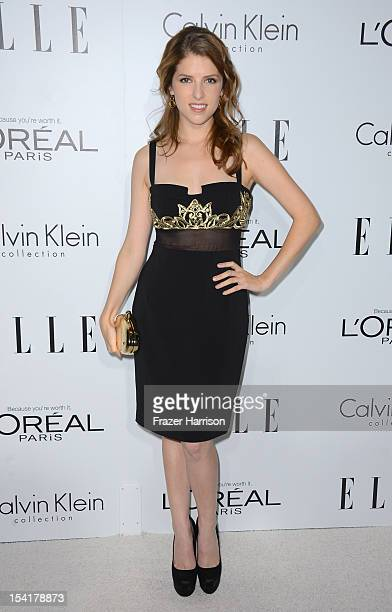 Actress Anna Kendrick arrives at ELLE's 19th Annual Women In Hollywood Celebration at the Four Seasons Hotel on October 15 2012 in Beverly Hills...