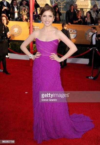 Actress Anna Kendrick arrives at the 16th Annual Screen Actors Guild Awards held at The Shrine Auditorium on January 23 2010 in Los Angeles California