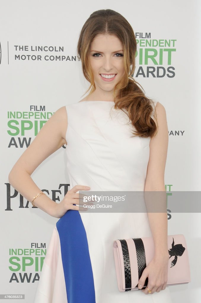 Actress <a gi-track='captionPersonalityLinkClicked' href=/galleries/search?phrase=Anna+Kendrick&family=editorial&specificpeople=3244893 ng-click='$event.stopPropagation()'>Anna Kendrick</a> arrives at the 2014 Film Independent Spirit Awards on March 1, 2014 in Santa Monica, California.