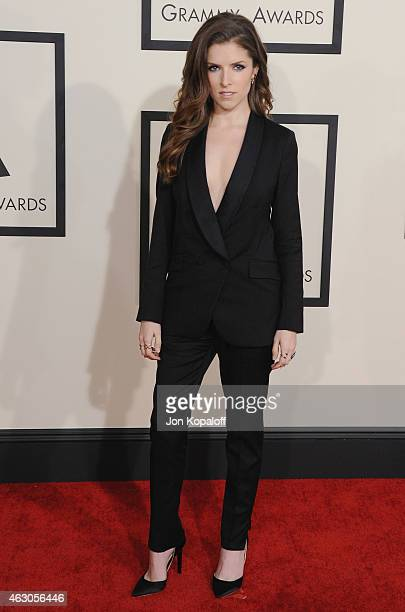 Actress Anna Kendrick arrives at the 57th GRAMMY Awards at Staples Center on February 8 2015 in Los Angeles California