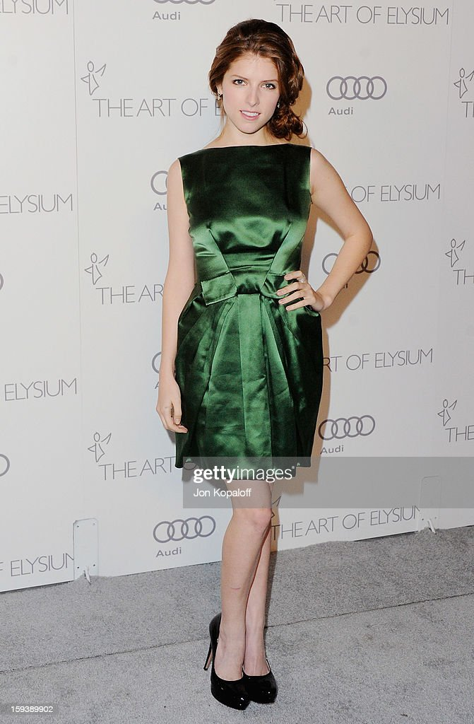 Actress Anna Kendrick arrives at the Art Of Elysium's 6th Annual Heaven Gala on January 12, 2013 in Los Angeles, California.