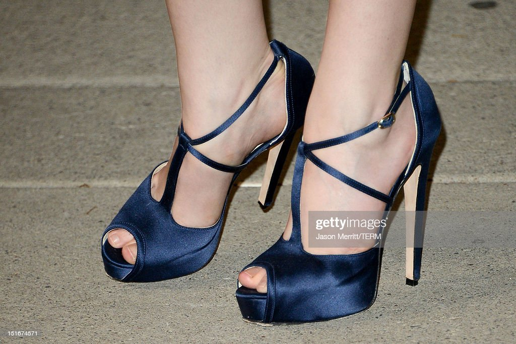 Actress Anna Kendrick (shoe detail) arrives at 'The Company You Keep' Premiere at the 2012 Toronto International Film Festival at Roy Thomson Hall on September 9, 2012 in Toronto, Canada.
