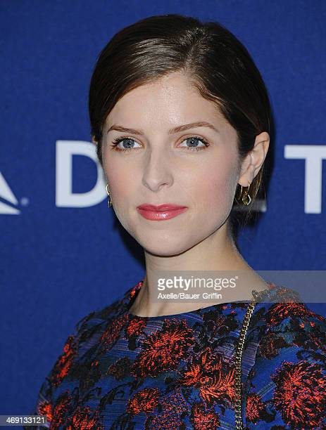 Actress Anna Kendrick arrives at the Delta Air Lines 2014 GRAMMY Weekend Private Reception And Performance With Lorde at Soho House on January 23...