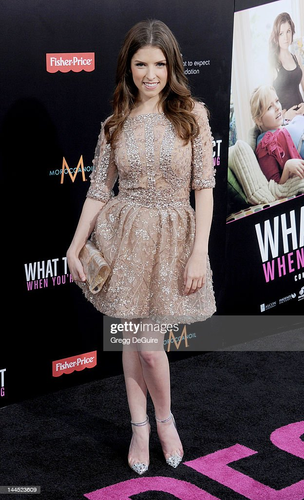 Actress <a gi-track='captionPersonalityLinkClicked' href=/galleries/search?phrase=Anna+Kendrick&family=editorial&specificpeople=3244893 ng-click='$event.stopPropagation()'>Anna Kendrick</a> arrives at the Los Angeles premiere of 'What To Expect When You're Expecting' at Grauman's Chinese Theatre on May 14, 2012 in Hollywood, California.