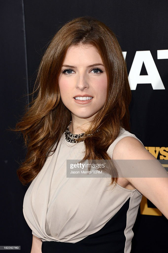 Actress <a gi-track='captionPersonalityLinkClicked' href=/galleries/search?phrase=Anna+Kendrick&family=editorial&specificpeople=3244893 ng-click='$event.stopPropagation()'>Anna Kendrick</a> arrives at the premiere of Open Road Films' 'End of Watch' at Regal Cinemas L.A. Live on September 17, 2012 in Los Angeles, California.
