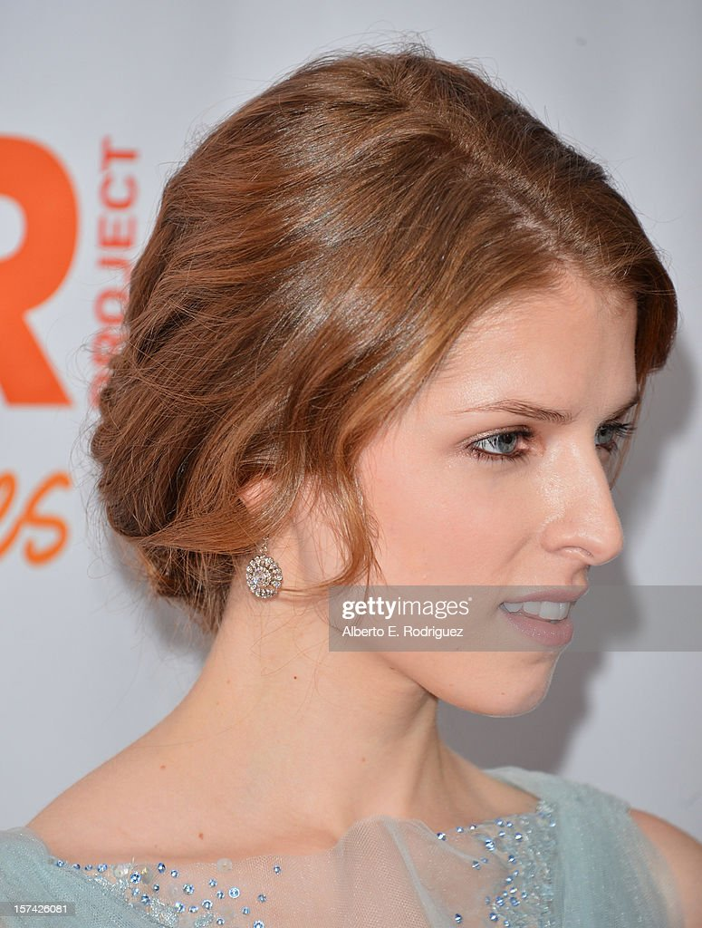 Actress Anna Kendrick arrives to The Trevor Project's 'Trevor Live' event honoring singer Katy Perry at the Hollywood Palladium on December 2, 2012 in Hollywood, California.