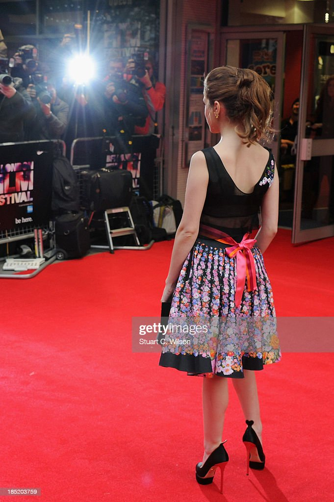 Actress Anna Kendrick attends a screening of 'Drinking Buddies' during the 57th BFI London Film Festival at Odeon West End on October 18, 2013 in London, England.