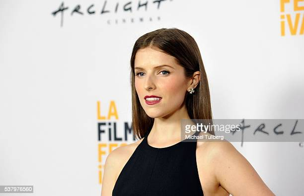 Actress Anna Kendrick attends a screening of 'The Hollars' at the LA Film Festival at ArcLight Cinemas on June 3 2016 in Culver City California