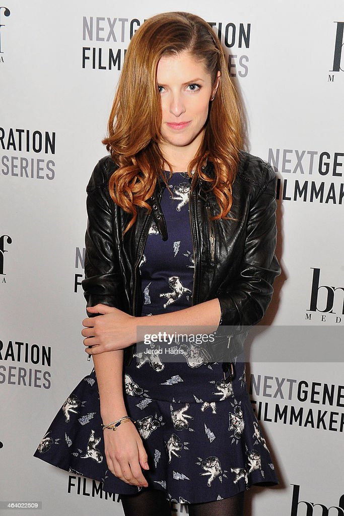 Actress <a gi-track='captionPersonalityLinkClicked' href=/galleries/search?phrase=Anna+Kendrick&family=editorial&specificpeople=3244893 ng-click='$event.stopPropagation()'>Anna Kendrick</a> attends 'Happy Christmas' Premiere Party - 2014 Park City on January 19, 2014 in Park City, Utah.