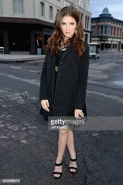 Actress Anna Kendrick attends the 2016 MTV Movie Awards at Warner Bros Studios on April 9 2016 in Burbank California MTV Movie Awards airs April 10...