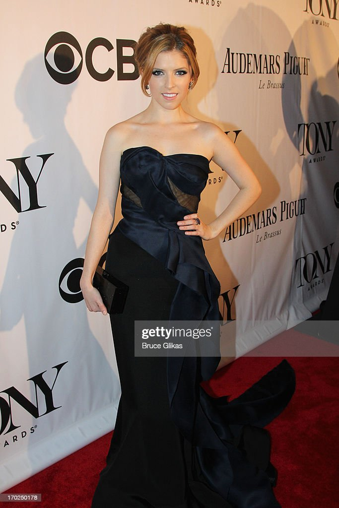 Actress <a gi-track='captionPersonalityLinkClicked' href=/galleries/search?phrase=Anna+Kendrick&family=editorial&specificpeople=3244893 ng-click='$event.stopPropagation()'>Anna Kendrick</a> attends The 67th Annual Tony Awards at Radio City Music Hall on June 9, 2013 in New York City.