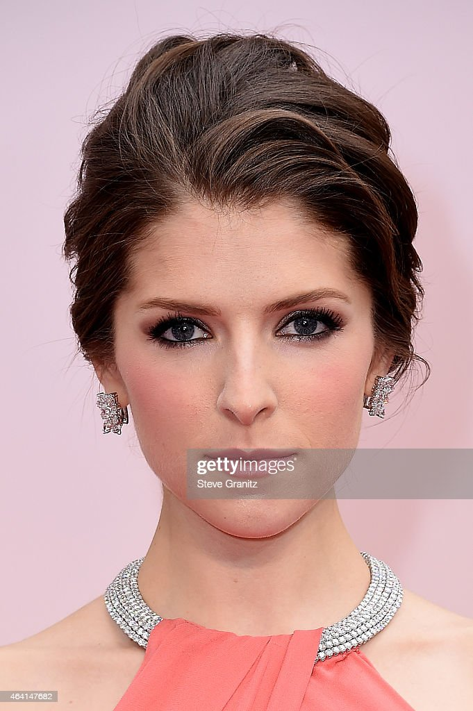 Actress Anna Kendrick attends the 87th Annual Academy Awards at Hollywood Highland Center on February 22 2015 in Hollywood California