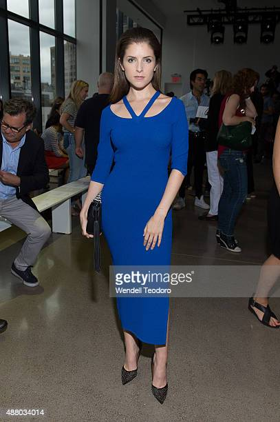 Actress Anna Kendrick attends the Altuzarra show during Spring 2016 New York Fashion Week at Spring Studios on September 12 2015 in New York City