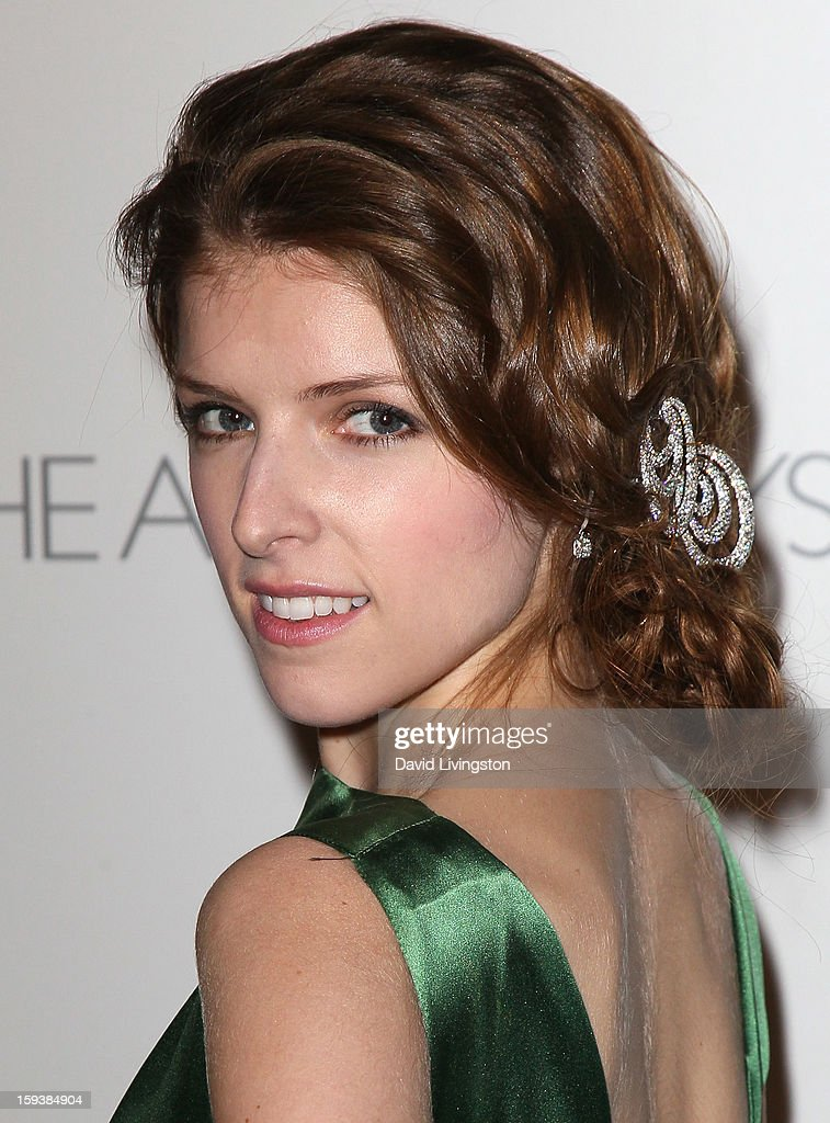 Actress <a gi-track='captionPersonalityLinkClicked' href=/galleries/search?phrase=Anna+Kendrick&family=editorial&specificpeople=3244893 ng-click='$event.stopPropagation()'>Anna Kendrick</a> attends the Art of Elysium's 6th Annual Black-tie Gala 'Heaven' at 2nd Street Tunnel on January 12, 2013 in Los Angeles, California.
