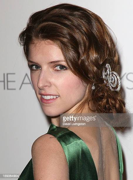 Actress Anna Kendrick attends the Art of Elysium's 6th Annual Blacktie Gala 'Heaven' at 2nd Street Tunnel on January 12 2013 in Los Angeles California
